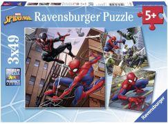 Ravensburger puzzle 080250 Spiderman v akci 3x49 dílků