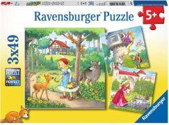 Ravensburger puzzle 080519 Malá červená karkulka 3x49 dílků