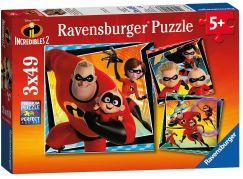 Ravensburger Puzzle 080533 Úžasňákovi 3x49 dílků