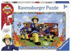 Ravensburger puzzle 086702 Požárník Sam 35 dílků