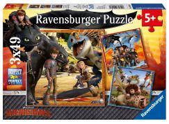 Ravensburger puzzle 092581 Jak vycvičit draka 3x49 dílků
