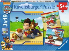 Ravensburger puzzle 093694 Tlapková Patrola Chlupatí hrdinové 3x49 dílků
