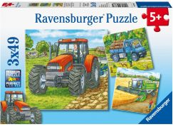 Ravensburger Puzzle 093885 Stroje v zemědělství 3x49 dílků