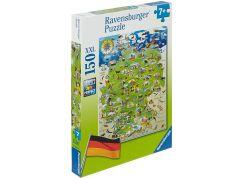 Ravensburger Puzzle 100491 Mapa Německa 150 XXL dílků