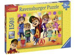 Ravensburger Puzzle 100507 Alvin a jeho přátelé 150 XXL dílků