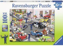 Ravensburger puzzle 104017 Policie na hlídce 100 XXL dílků
