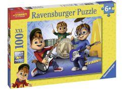 Ravensburger Puzzle 107124 Alvin, Simon,Theodore 100 XXL dílků