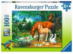 Ravensburger Puzzle 108336 Kobyly a hříbata 100 XXL dílků