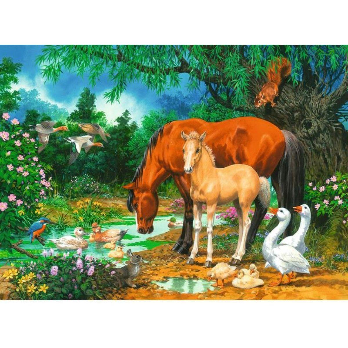 Ravensburger Puzzle 108336 Kobyly a hříbata 100 XXL dílků #2