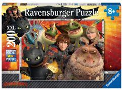 Ravensburger puzzle 128129 Jak vycvičit draka Škyťák, Astrid a draci 200 dílků