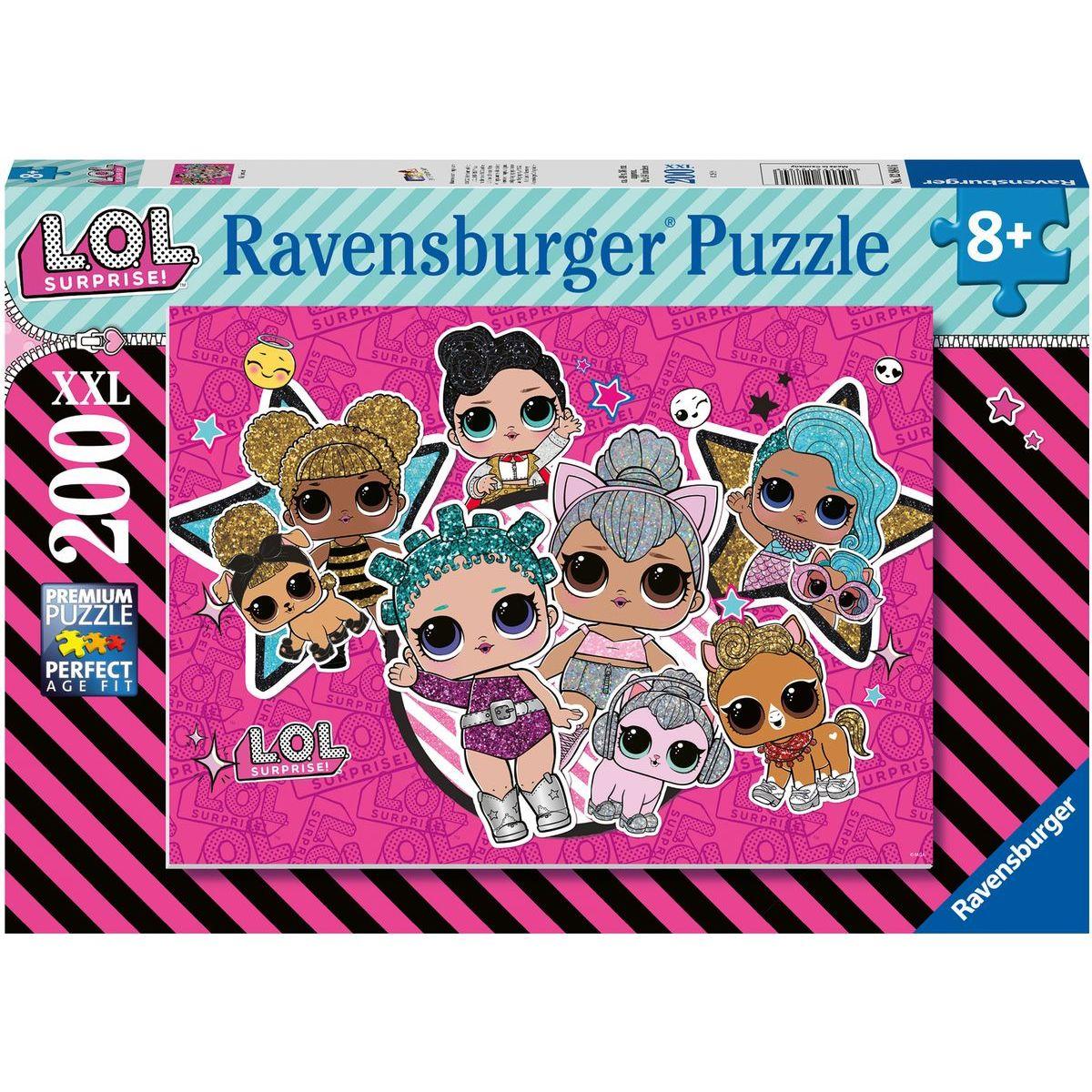 Ravensburger puzzle 128846 L. O. L. Dívčí síla 200 XXL dílků