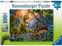 Ravensburger puzzle 128884 V říši dinosaurů 100 XXL dílků