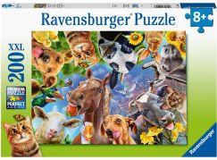 Ravensburger puzzle 129027 Legrační hospodářská zvířata 200 XXL dílků