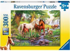 Ravensburger puzzle 129041 Koně u řeky 300 XXL dílků