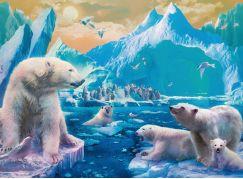 Ravensburger Puzzle 129478 Polární medvědi 300 dílků