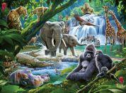 Ravensburger Puzzle 129706 Rodina z džungle 100 dílků