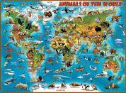 Ravensburger puzzle 132577 Ilustrovaná mapa světa 300 XXL dílků