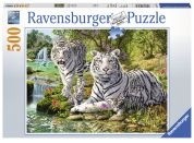 Ravensburger Puzzle 147939 Bílé kočky loupežnice 500 dílků