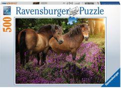 Ravensburger puzzle 148134 Poníci mezi květinami 500 dílků