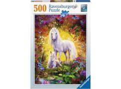 Ravensburger puzzle 148257 Jednorožec s mládětem 500 dílků