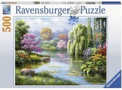 Ravensburger puzzle 148271 Pohled na jezero 500 dílků