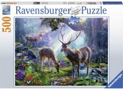 Ravensburger puzzle 148288 Jeleni v lese 500 dílků