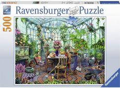 Ravensburger puzzle 148325 Ráno ve skleníku 500 dílků