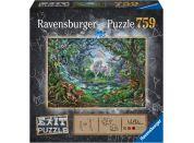 Ravensburger puzzle 150304 Exit Puzzle Jednorožec 759 dílků