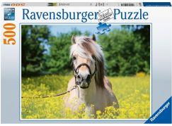 Ravensburger puzzle 150380 Bílý kůň 500 dílků