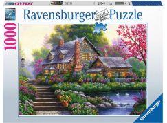 Ravensburger puzzle 151844 Romantická chata 1000 dílků