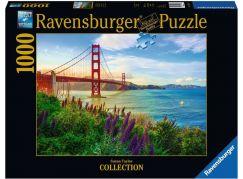 Ravensburger puzzle 152896 Západ slunce u Golden Gate 1000 dílků