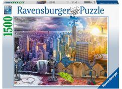 Ravensburger puzzle 160082 Mrakodrapy New Yorku 1500 dílků