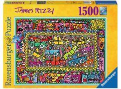 Ravensburger Puzzle 163564 James Rizzi Jsme na cestě na party 1500 dílků