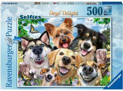 Ravensburger puzzle 164257 Selfie psi 500 dílků