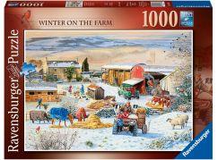 Ravensburger puzzle 164783 Zima na farmě 1000 dílků