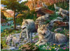 Ravensburger Puzzle 165988 Jarní vlci 1500 dílků