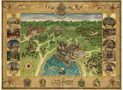 Ravensburger Puzzle 165995 Mapa Bradavic 1500 dílků