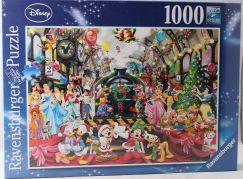Ravensburger Puzzle 195534 Disney Všichni na palubě na Vánoce 1000 dílků