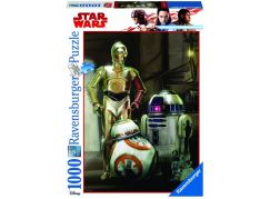 Ravensburger Puzzle 197798 Disney Star Wars: C 3PO, R2 D2 & BB 8 1000 dílků