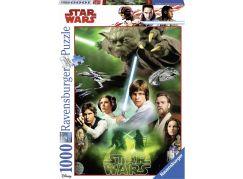 Ravensburger Puzzle 197804 Disney Star Wars: Star Wars Helden 1000 dílků