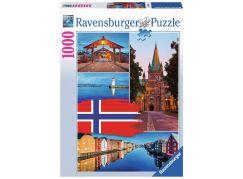 Ravensburger Puzzle 198450 Trondheim koláž 1000 dílků