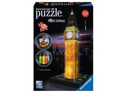 Ravensburger Puzzle 3D Big Ben (Noční edice) 216 dílků