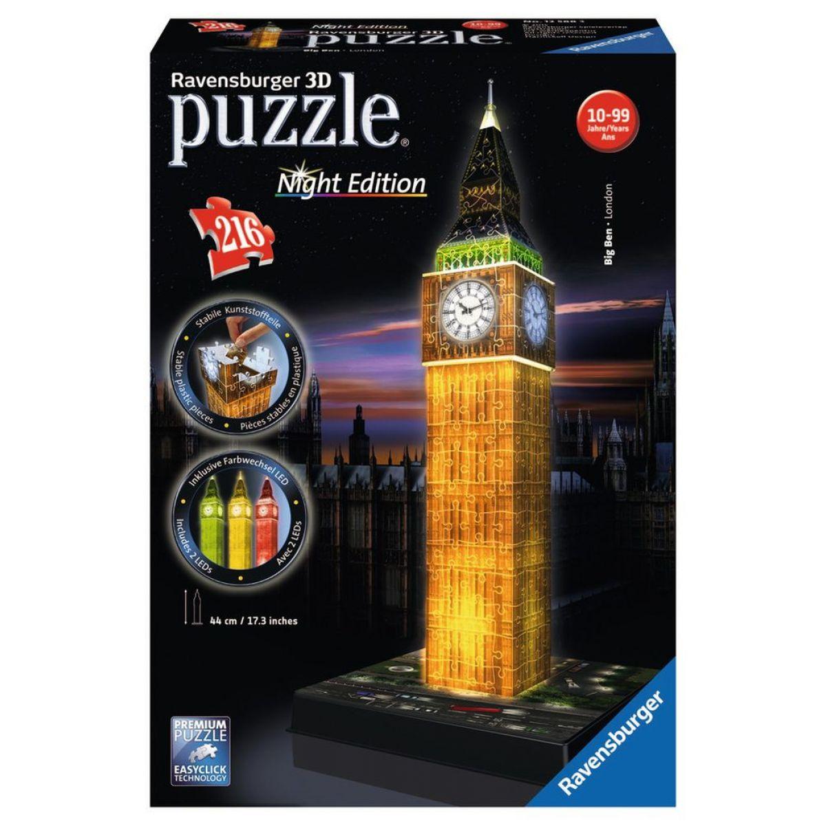 Ravensburger Puzzle 3D Big Ben Noční edice 216 dílků