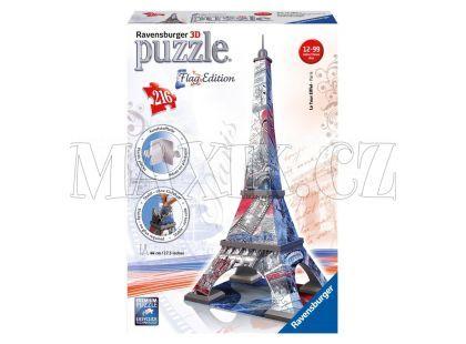 Ravensburger Puzzle 3D Eiffelova věž Vlajková edice 216 dílků