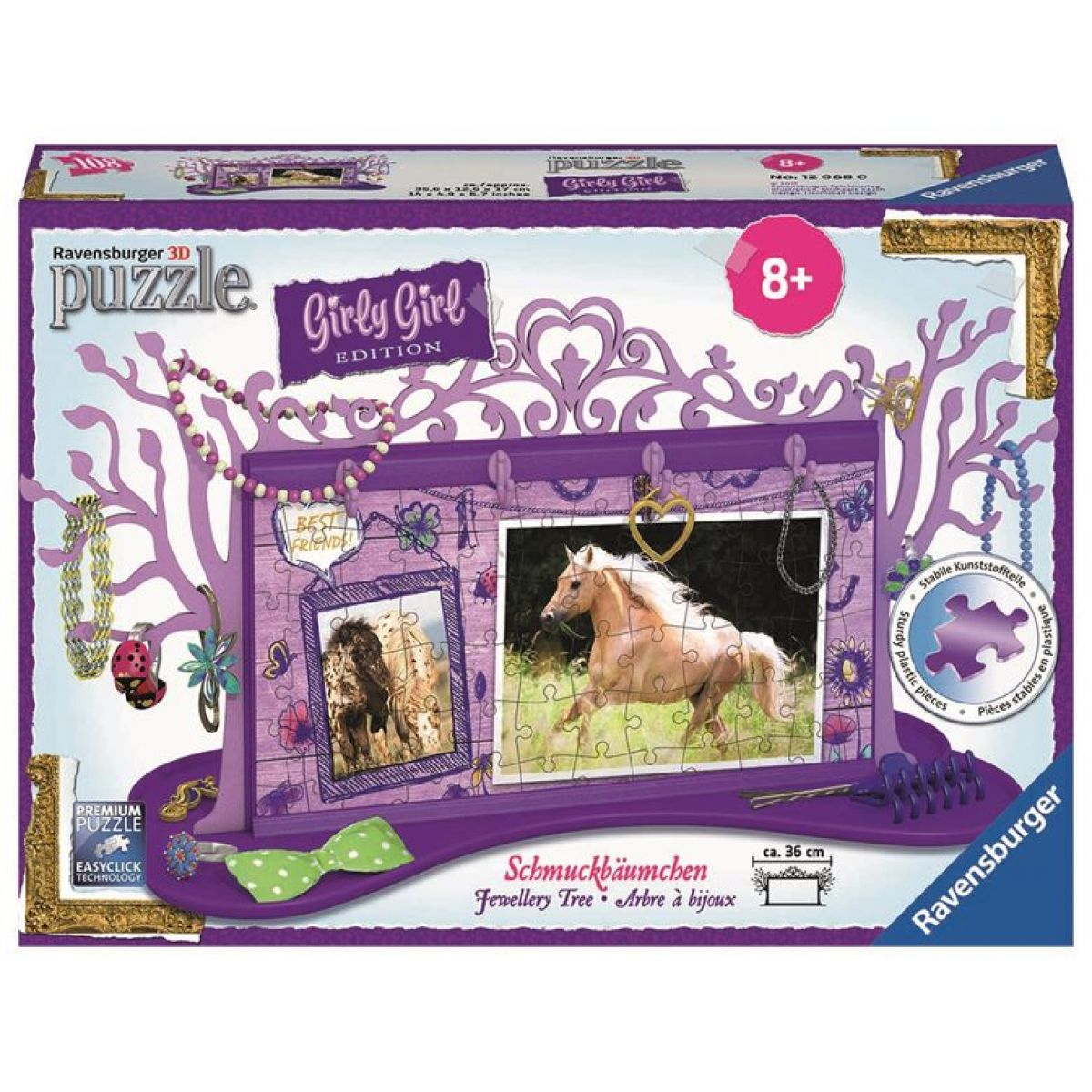 Ravensburger Puzzle 3D Girly Girl Šperkovnice - Kůň