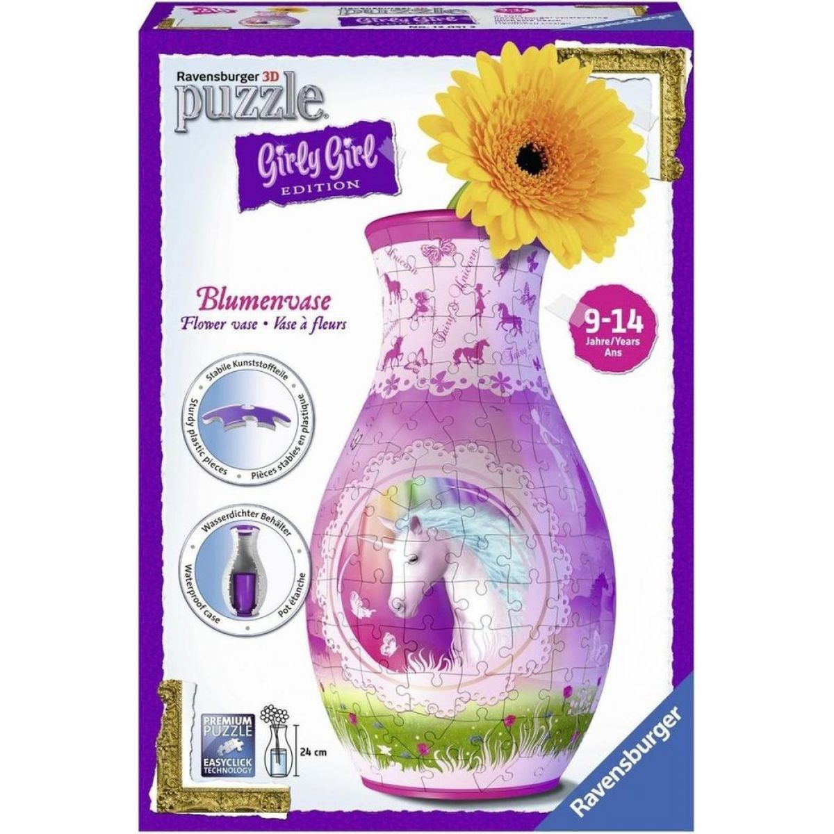 Ravensburger Puzzle 3D Girly Girl Váza - Jednorožec