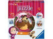 Ravensburger Puzzle 3D Máša a medvěd puzzleball 72 dílků
