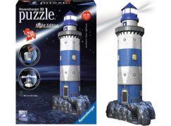 Ravensburger Puzzle 3D Maják v příboji Noční edice 216d