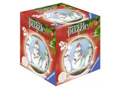 Ravensburger Puzzle 3D Merry Chrismas puzzleball 54 dílků Sněhuláci
