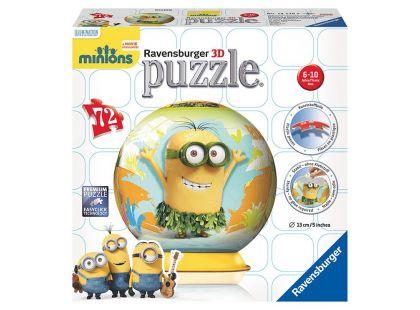 Ravensburger Puzzle 3D Mimoňové puzzleball 121700 72 dílků